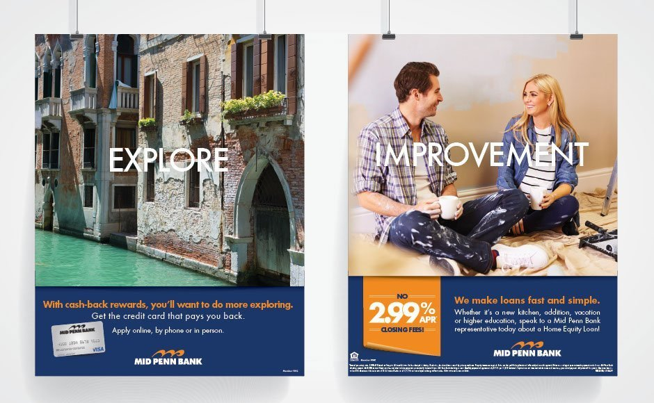 Mid Penn Bank, Advertising and Brand Management Portfolio Item | Inspired Design Studio