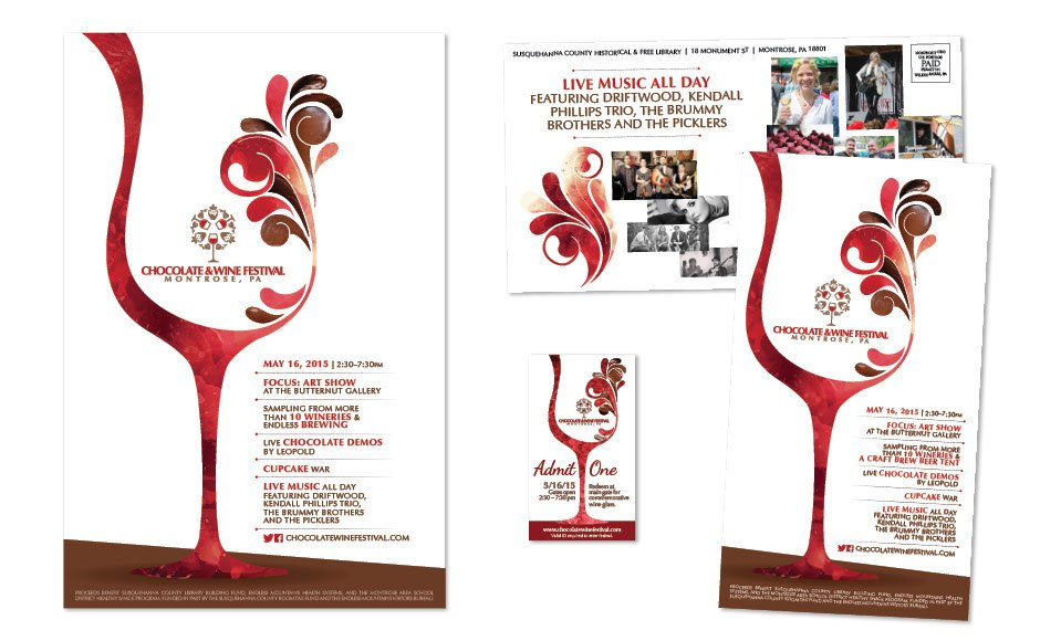 Chocolate & Wine Festival, Advertising and Brand Management Portfolio Item | Inspired Design Studio