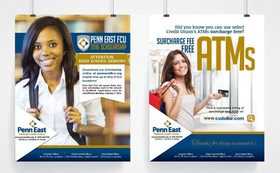 Penn East FCU, Advertising and Brand Management Portfolio Item | Inspired Design Studio