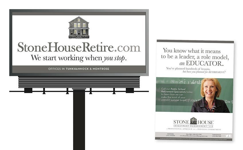 StoneHouseRetire.com, Advertising and Brand Management Portfolio Item | Inspired Design Studio