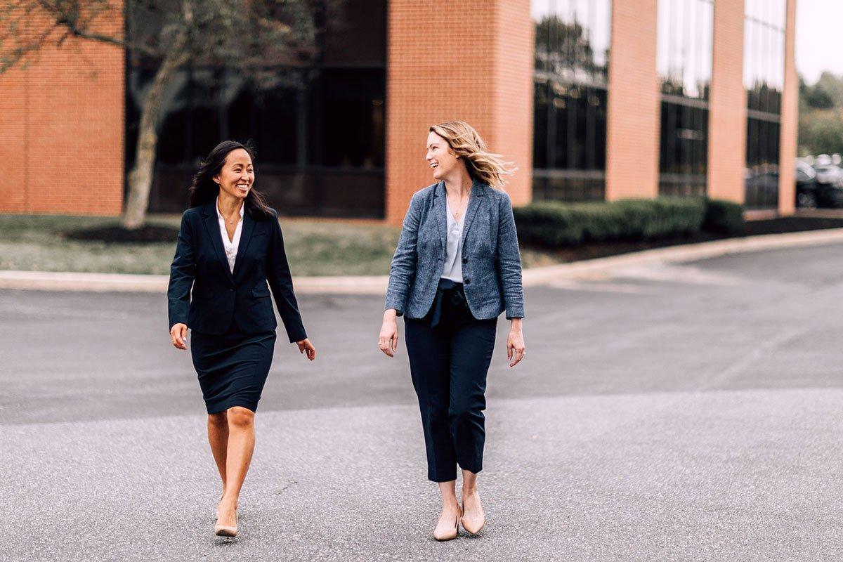 Candid photo of two executives at MPB Financial